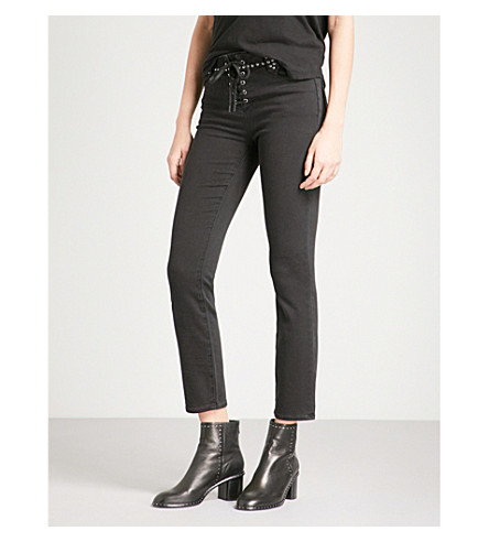PAIGE Arden ultra-skinny high-rise jeans (Studded+joannie
