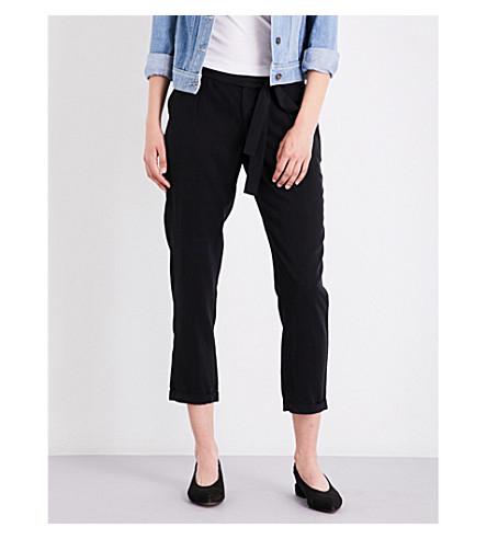PAIGE DENIM Senora skinny cropped twill trousers (Black