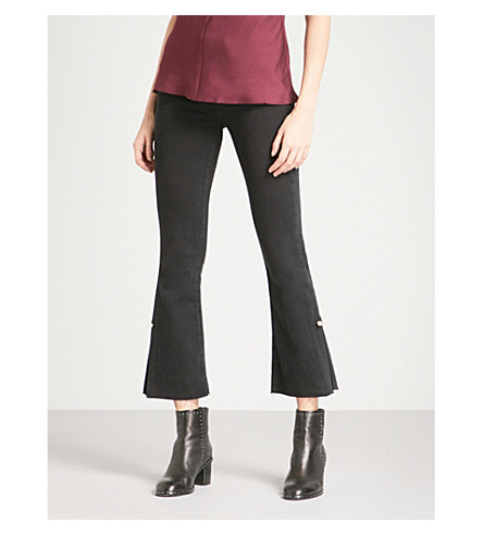 PAIGE Colette flared high-rise jeans (Bandit