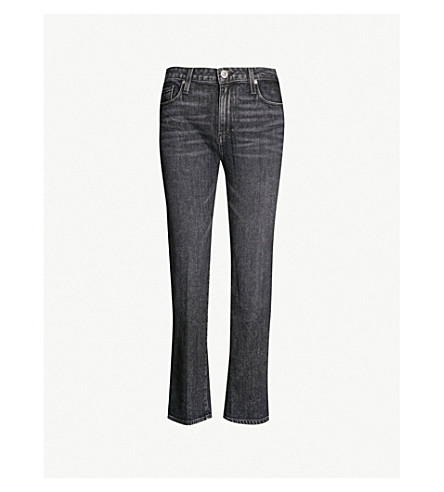 PAIGE Noella regular-fit straight mid-rise jeans (Little+rock