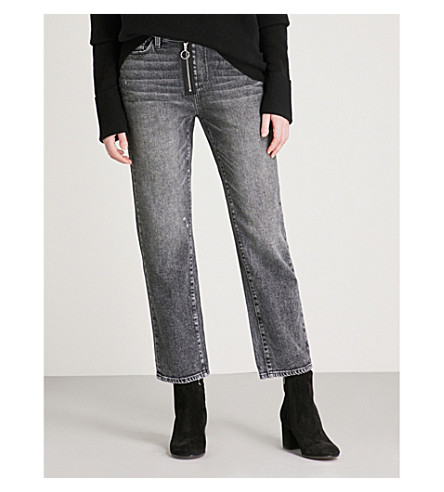 PAIGE Noella regular-fit straight mid-rise jeans (Myra