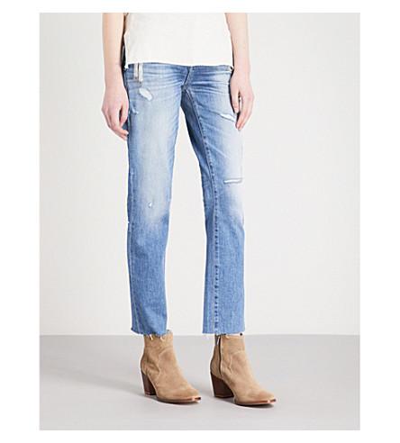 PAIGE Brigitte boyfriend-fit low-rise jeans (Lola+embellished