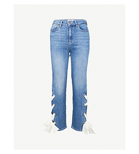 PAIGE Sarah straight high-rise jeans (Meridian