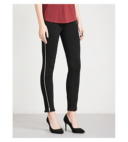 PAIGE Margot ultra-skinny mid-rise jeans (Black+shadow