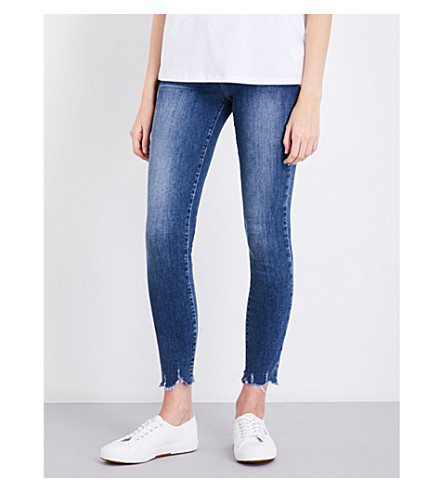 PAIGE Verdugo Ankle frayed-hem skinny mid-rise jeans (Barkley+distressed