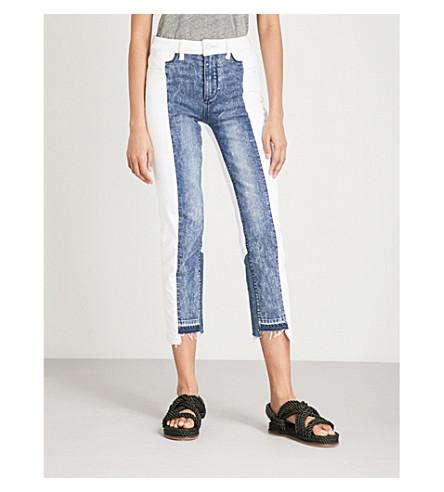 PAIGE Jacqueline frayed-hem straight high-rise jeans (Agnes
