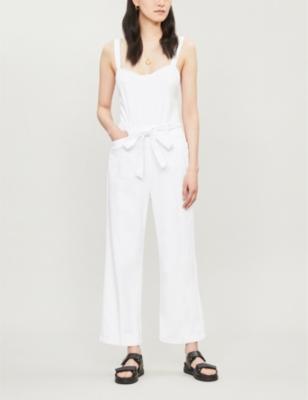 Emma cotton-blend wide-leg jumpsuit