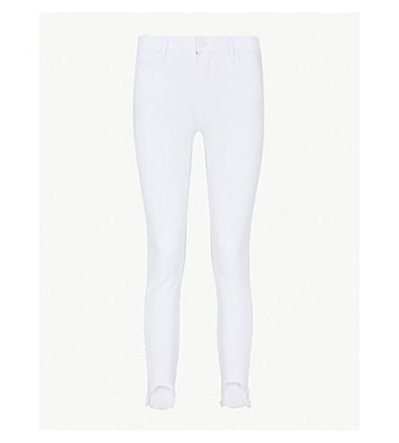 PAIGE Verdugo Crop ultra-skinny mid-rise jeans (Crisp+white