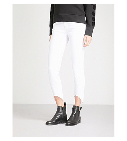PAIGE Verdugo Crop ultra-skinny mid-rise jeans (Crisp+white