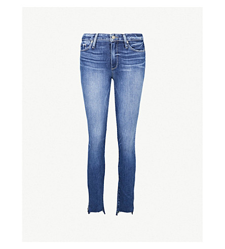 PAIGE Hoxton raw-hem skinny high-rise jeans (Malibu