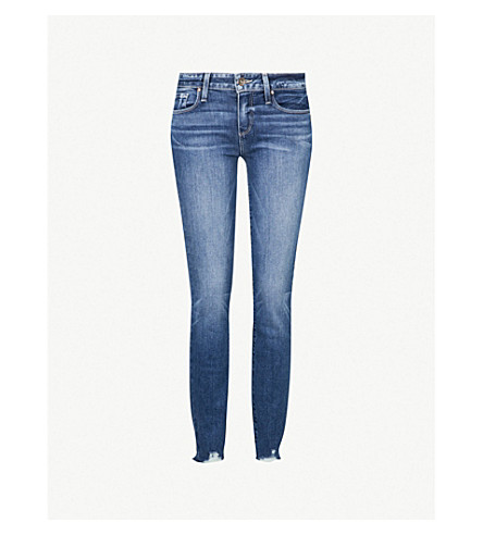 PAIGE Verdugo Ankle skinny mid-rise jeans (Mailbu+super+distressed