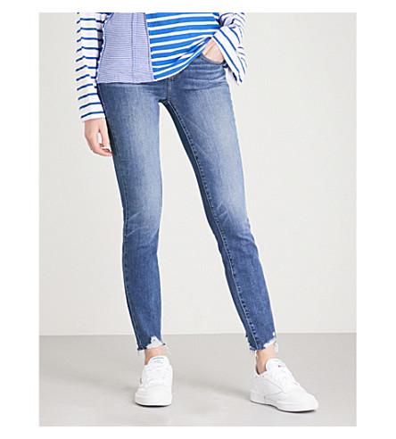 PAIGE Verdugo Ankle skinny mid-rise jeans (Mailbu+super+distressed