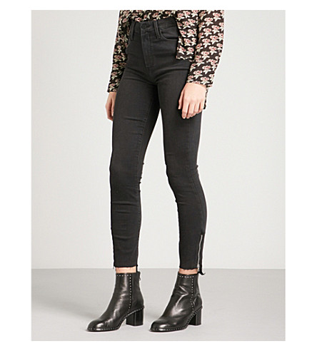 PAIGE Margot ultra-skinny high-rise jeans (Black+fog