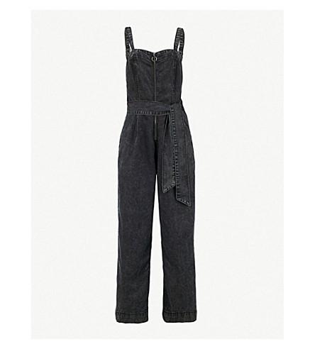 PAIGE Dagny faded stretch-denim jumpsuit (Navarro