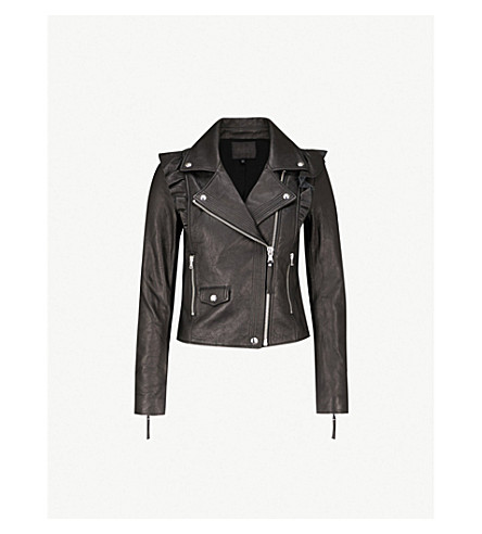 PAIGE Annika leather biker jacket (Black