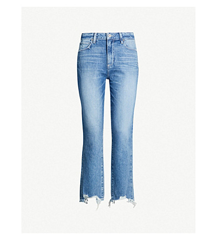 PAIGE Sarah faded skinny high-rise jeans (Cancun