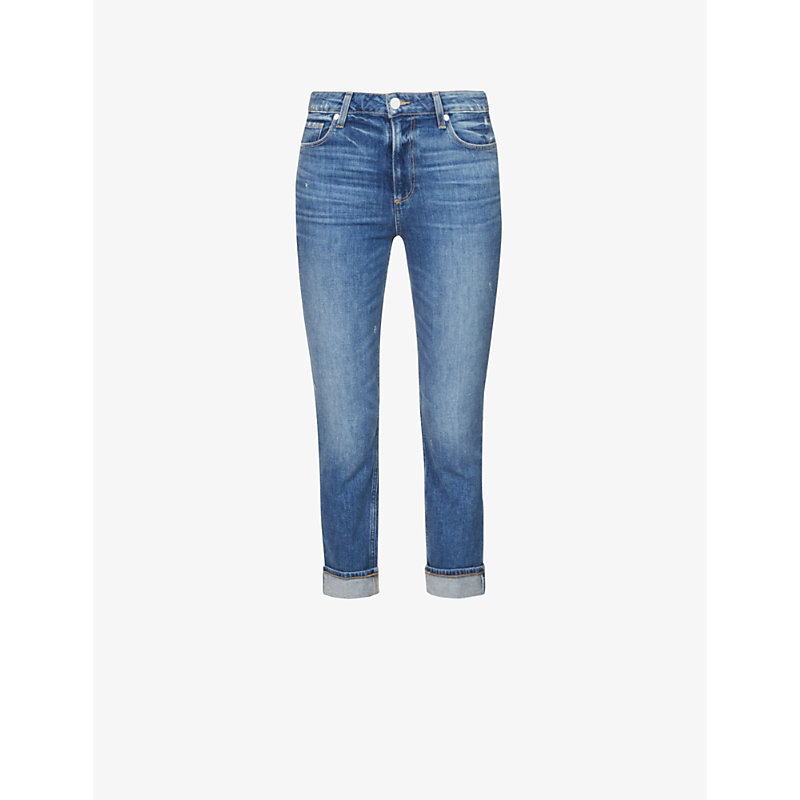 PAIGE | Sarah Faded Skinny Mid-Rise Jeans | Goxip