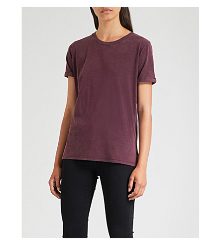 PAIGE Cassandra cotton-jersey T-shirt (Dark+current