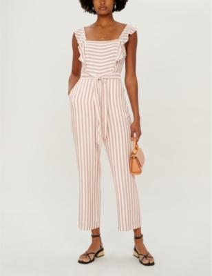 Marino striped woven jumpsuit