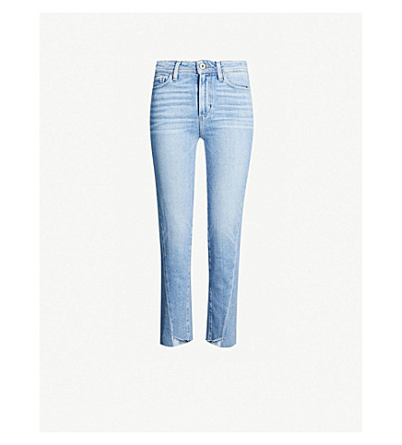 PAIGE Hoxton Crop Twisted Seam skinny high-rise jeans (Carlotta