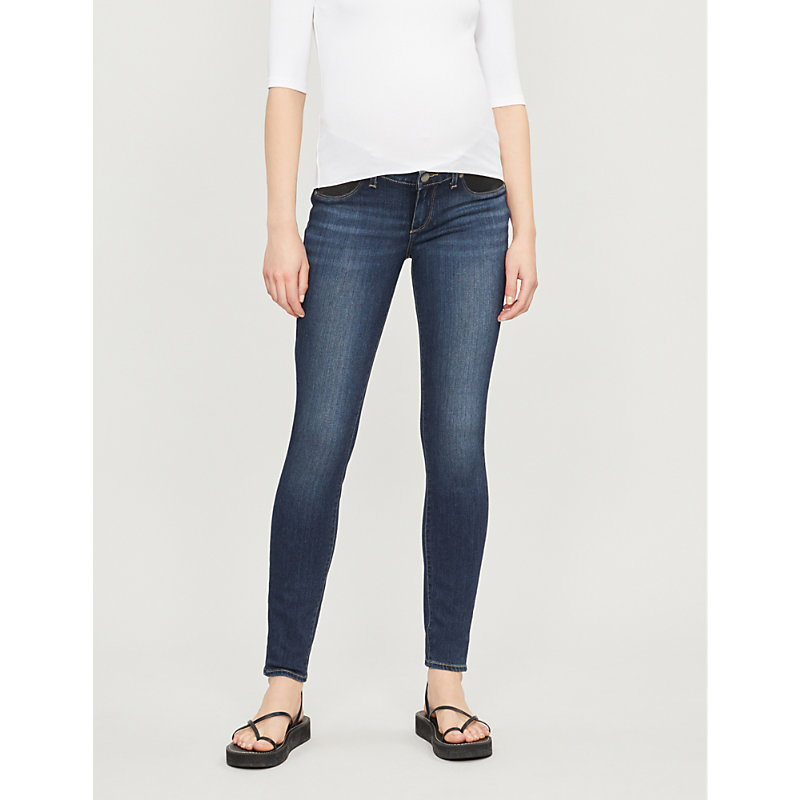 PAIGE | Verdugo Maternity Skinny Mid-Rise Jeans | Goxip