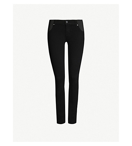 PAIGE Verdugo Maternity skinny mid-rise jeans (Black+shadow