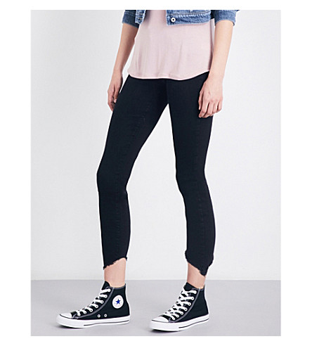PAIGE Hoxton skinny high-rise jeans (Black