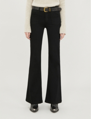 Genevieve flared high-rise jeans