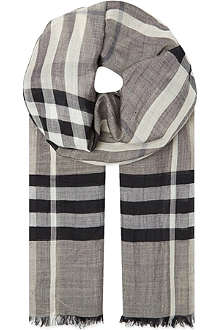 BURBERRY Giant check Guaze scarf