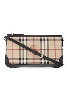 BURBERRY Checked leather shoulder bag
