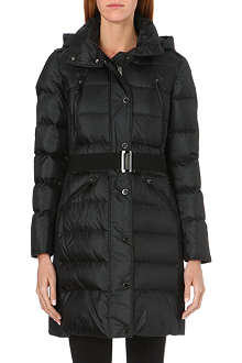 BURBERRY Hooded quilted coat
