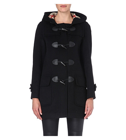 BURBERRY Minstead wool duffle coat (Black