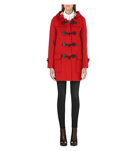 BURBERRY Minstead wool duffle coat (Red