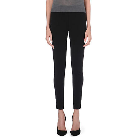 BURBERRY Skinny stretch-crepe trousers (Black