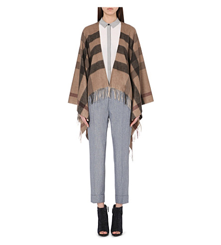 BURBERRY All-over check cape (Smoked trench
