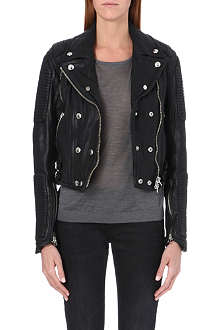 BURBERRY Loseley leather biker jacket
