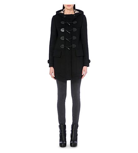 BURBERRY Finsdale wool duffle coat (Black