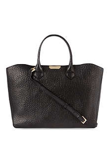 BURBERRY Grained leather Dewsbury tote