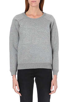 BURBERRY Logo-embossed cotton sweatshirt