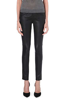 BURBERRY Litton skinny leather trousers