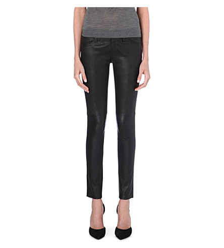 BURBERRY Litton skinny leather trousers (Black