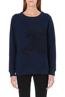 BURBERRY Embroidered jersey sweatshirt