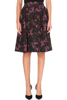 BURBERRY Printed silk midi skirt