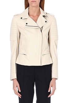 BURBERRY Nightingale leather biker jacket