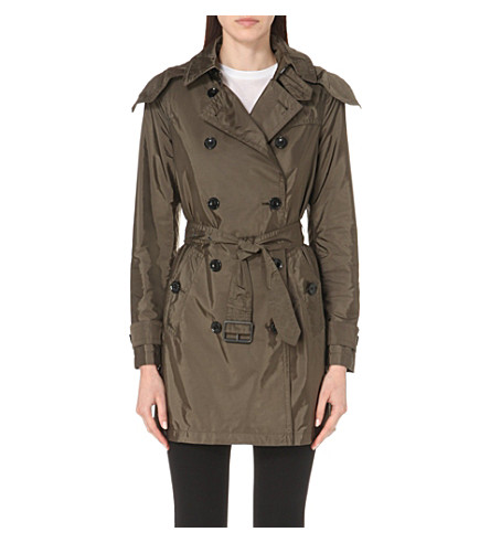 BURBERRY Balmoral taffeta trench coat (Military+olive