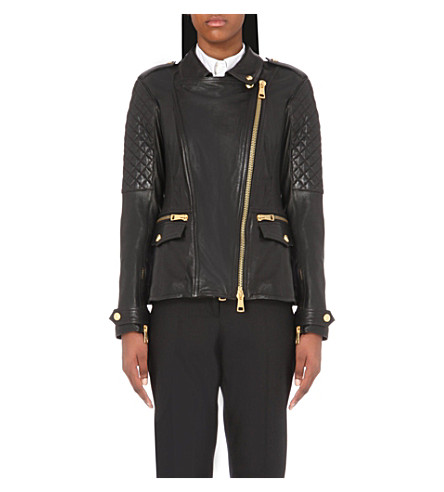BURBERRY Remmington leather jacket (Black