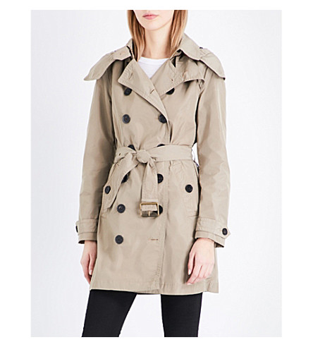 BURBERRY Balmoral taffeta trench coat (Sisal