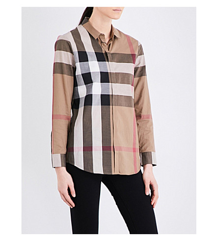BURBERRY Core checked cotton shirt (Taupe