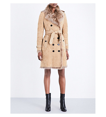 BURBERRY Toddingwall shearling coat (Camel