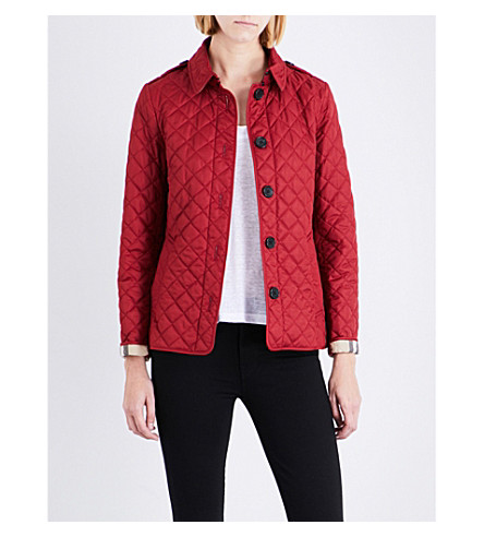 BURBERRY Ashurst diamond-quilted shell jacket (Parade+red